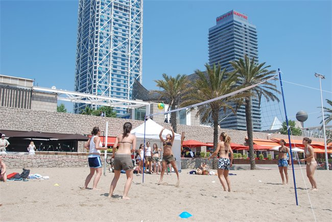 Beach Volley a Barceloneta